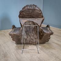 Large Walnut Head of Putto (7 of 8)