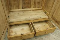 Quality! Large Old Pine Double 'Knock Down' Wardrobe - We Deliver! (10 of 17)