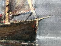 Scottish Marine Oil Painting Sailing Fishing Boats on the Tay Estuary by Dundee (11 of 23)