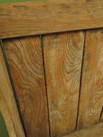 Antique Elm Tavern Bench Settle, Rustic Hall Seat (5 of 19)