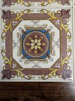 H & R Johnson Autumn Leaves Fireplace Tiles Set of 4 (3 of 4)