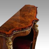 Victorian Inlaid Walnut Side Cabinet (6 of 17)