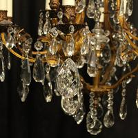 French Gilded Bronze & Crystal Chandelier (5 of 5)