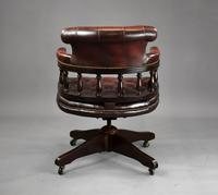 Ox Blood Leather Office Chair (4 of 10)