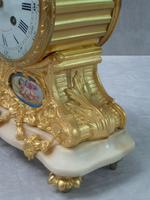 French Louis XV Style Bronze Gilt Mantel Clock by Leroy & Fils (4 of 8)