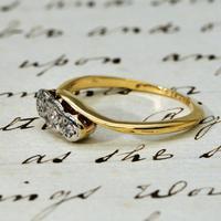 The Vintage Three Diamond 9ct Ring (2 of 3)