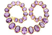 274.91ct Amethyst & 18ct Yellow Gold Rivière Necklace - Antique Victorian (3 of 12)