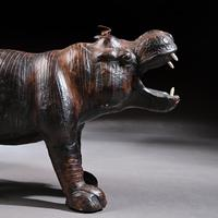 Mid 20th Century Liberty Of London Leather Hippo (3 of 12)