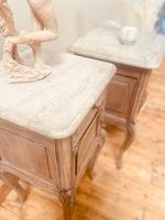 French Antique Bedside Tables / Marble Bedside Cabinets / Louis XV Nightstands (3 of 10)