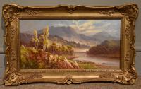 "Oil Painting Pair by Sidney Yates Johnson ""Morning & Evening in the Highlands"" (5 of 7)"