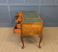 Good Queen Anne Style Burr Walnut Writing Desk (2 of 18)