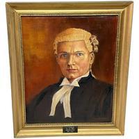 Fine Oil Painting Portrait J C Litherland 'Sydney' Barrister At Law 1897-1983