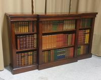 Victorian Mahogany Breakfront  Open Library Bookcase