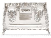 Sterling Silver Gallery Inkstand - Antique Victorian 1898 (9 of 9)