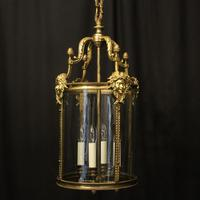 English Bronze 4 Light Antique Hall Lantern