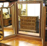 Large French triptych dressing table mirror (5 of 7)