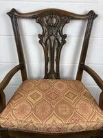 Pair of 19th Century Chippendale Style North Country Armchairs (4 of 10)