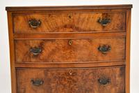 Antique Burr Walnut Bow Front Chest of Drawers (8 of 9)