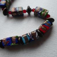 Venetian Glass Millefiore Bead Necklace (11 of 11)
