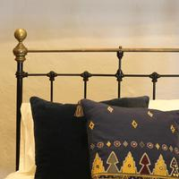 Black Straight Top Rail Victorian Single Antique Bed (5 of 5)
