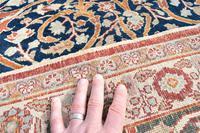 Antique Tabriz roomsize carpet 397x302cm (6 of 8)
