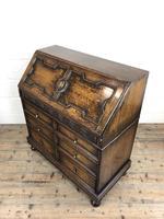 Early 20th Century Antique Oak Geometric Bureau (M-1657) (5 of 17)