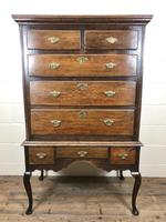 Antique 18th Century George II Oak Chest on Stand (M-652) (11 of 12)