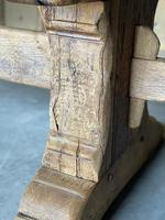 Superb Rustic Large Bleached Oak Farmhouse Table with Extensions (14 of 36)