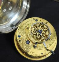 Antique ChrAntique Silver Open Case Pocket Watch Fusee Verge Escapement Key Wind F Hiahams Canterburyonograph Pocket Watch Sweeping Stop Start Seconds Hand Swiss Made Key Wind. (4 of 12)