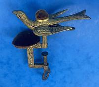 Victorian Gilt Brass Bird Sewing Clamp (2 of 11)
