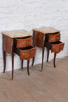 Very Nice Pair of Bow Front & Side Bedsides (3 of 10)