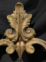 Pair of Heart Shaped French Antique Brass Wall Lights (10 of 13)