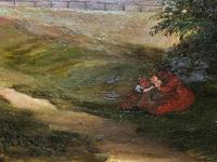 19thc British School - Travellers at Rest - Stunning Landscape Oil Painting (7 of 12)