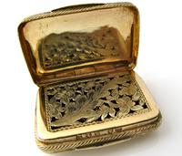 Wonderful cast silver-gilt vinaigrette Samuel Pemberton Birmingham 1816 (2 of 11)