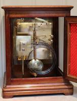 Mahogany Four Glass Ting Tang Mantel Clock (7 of 9)