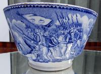 An Extremely Rare Pottery Napoleon Propaganda B&w Commemorative Bowl C.19thc (2 of 12)