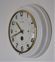 Unique and Scarce 1940's French Platform Escapement Office Wall Clock. (2 of 5)