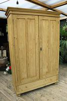 Fabulous & Large Old Pine 'Knock Down'  Double Wardrobe (2 of 15)