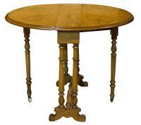 Fine Burr Walnut Sutherland Table (4 of 6)