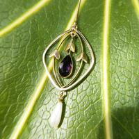 Antique 9ct Gold Peridot, Amethyst & Pearl Pendant, Suffragette Colours (7 of 9)