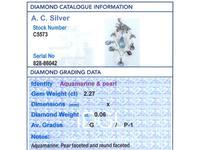 2.27ct Aquamarine, Diamond, Pearl & 14ct Yellow Gold Pendant - Antique c.1900 (7 of 9)