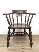 19th Century Ash and Elm Smoker's Bow Chair or Captain's Armchair (11 of 11)