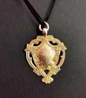 Vintage Art Deco 9ct Gold Shield Fob (4 of 9)