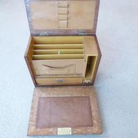 Oak Edwardian Style Writing Box (3 of 4)