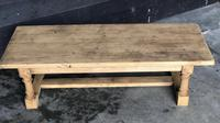 Antique Bleached Oak Coffee Table (4 of 9)