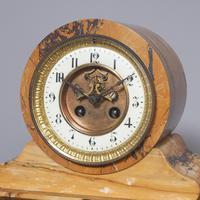 Sienna Marble Clock Garniture (3 of 6)