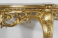 19th Century Gilt Console Table with Marble Top (6 of 17)