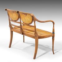 Elegant Early 20th Century Satin Mahogany Salon Suite (4 of 8)