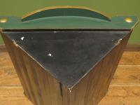 Vintage 1950s Chinese Painted Corner Cabinet, Racing Green (16 of 16)