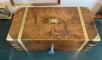 Victorian Brass-bound Walnut Writing Slope with Secret Drawers (9 of 39)